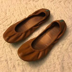 Tan brown worn Tieks size 6